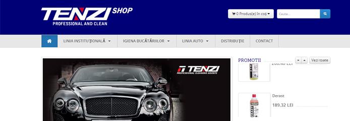 Tenzi Romania lanseaza noul magazin online
